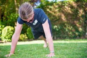 Bronwen Personal Trainer demonstrates the plank