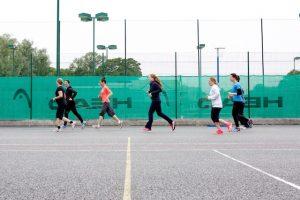 Bootcamp / outdoor fitness class jog