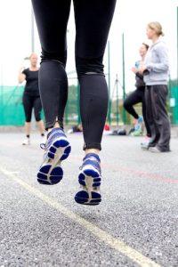 Outdoor fitness class / bootcamp jump