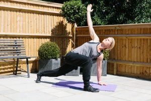 Personal Trainer Bronwen Wright Demonstrates stretches