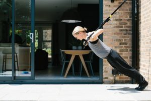 Personal Trainer Bronwen Wright demonstrates arm exercises